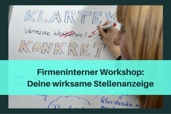Workshop Wirksame Stellenanzeige