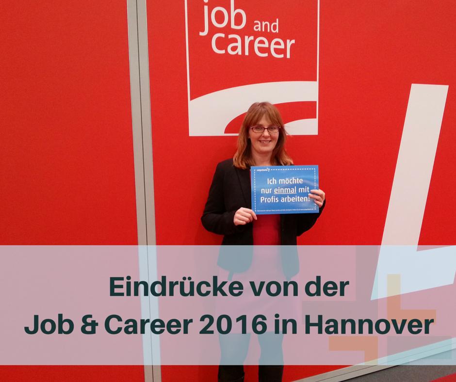 Personalmarketing auf der Job & Career 2016